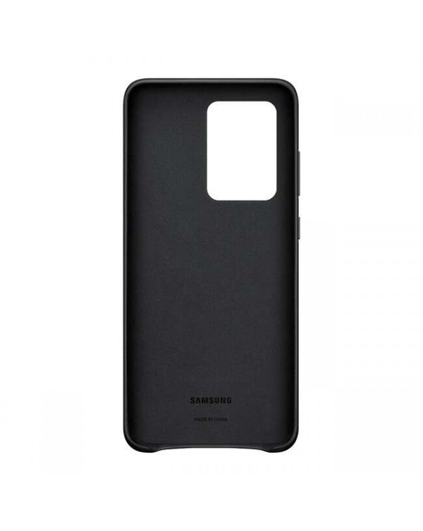 Samsung - Leather Cover Case Black for Samsung Galaxy S20 Ultra