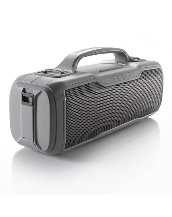 BRAVEN BRV-XL Rugged Portable Bluetooth Speaker (Gray)