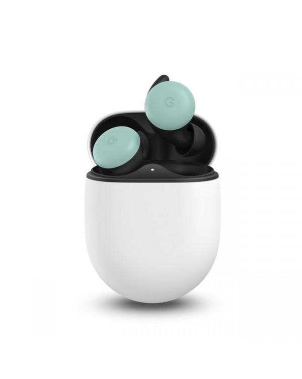 Google - Pixel Buds Headphones with Wireless Charging Case Quite Mint