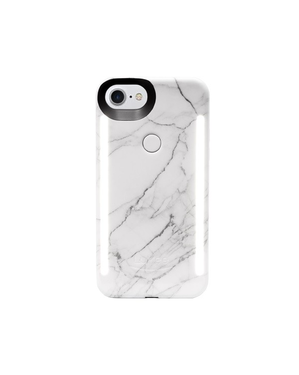 LuMee Duo White Marble LED Case for iPhone 6/6S