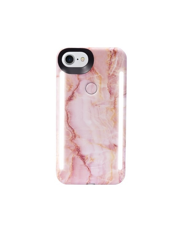 LuMee Duo Pink Marble LED Case for iPhone 6/6S