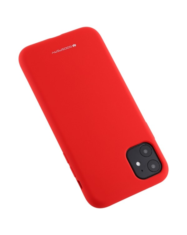 iPhone 11 GOOSPERY SILICONE Solid Color Soft Shockproof Case (Red)
