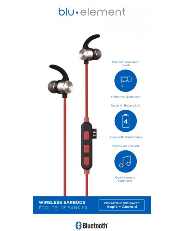 Blu Element - Bluetooth Earbuds Red