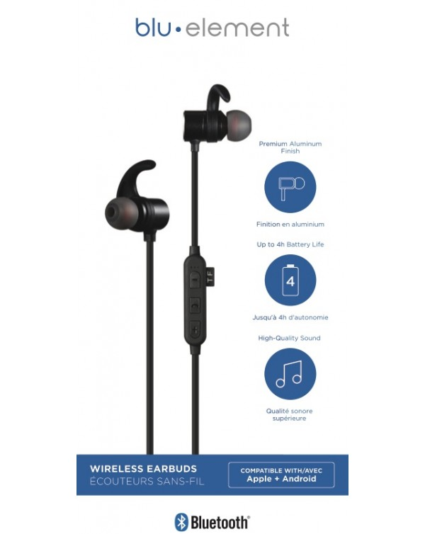Blu Element - Bluetooth Earbuds Black