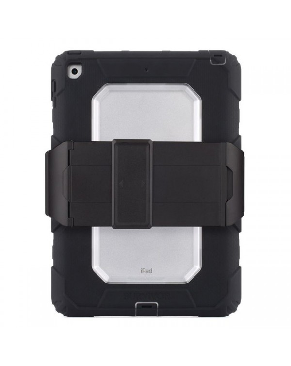Griffin - Survivor All-Terrain Rugged Case Black/Clear for iPad 9.7 2018/iPad 9.7 2017