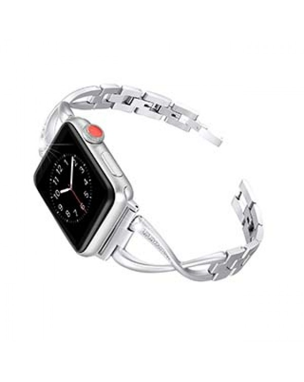 Apple Watch 44/42mm Uunique Silver Elire Watch Band
