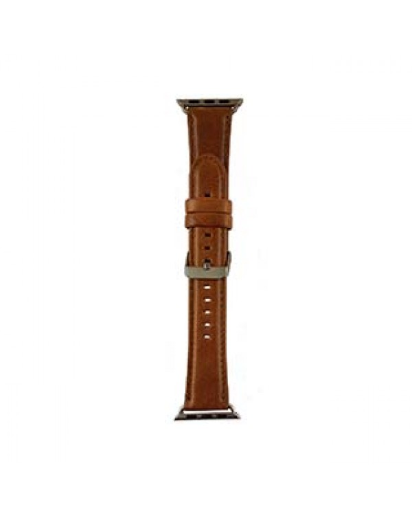 Apple Watch 44/42mm Uunique Tan Genuine Leather Classic Watch Band