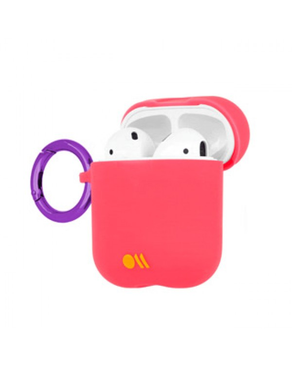 AirPods Case-Mate Pink/Metallic Pink (Living Coral) Hook Ups Case