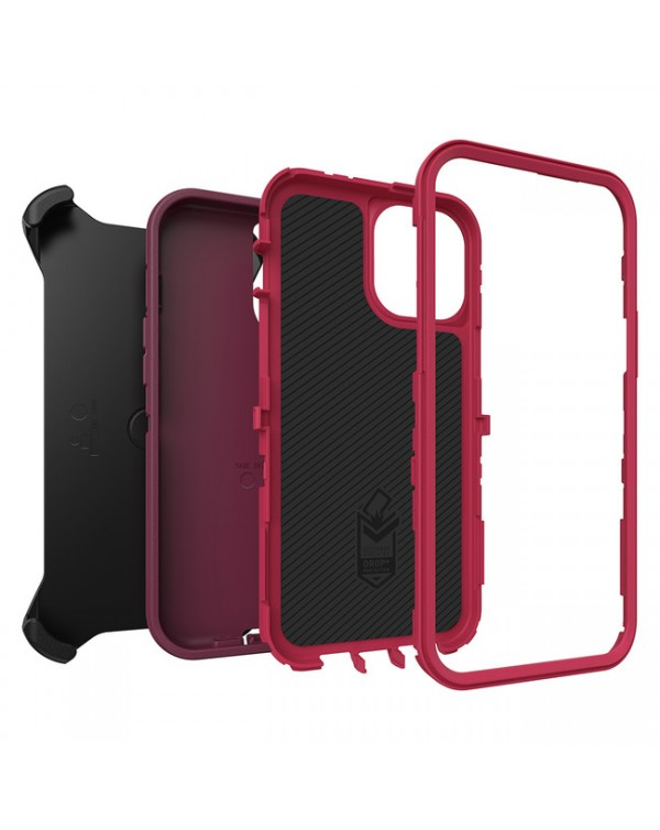 Otterbox - Defender Protective Case Raspberry Wine/Boysenberry for iPhone 12 Pro Max