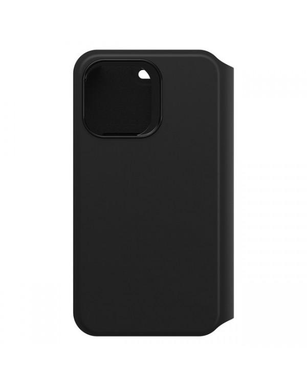 Otterbox - Strada Via PU Leather Folio Black for iPhone 12 Pro Max