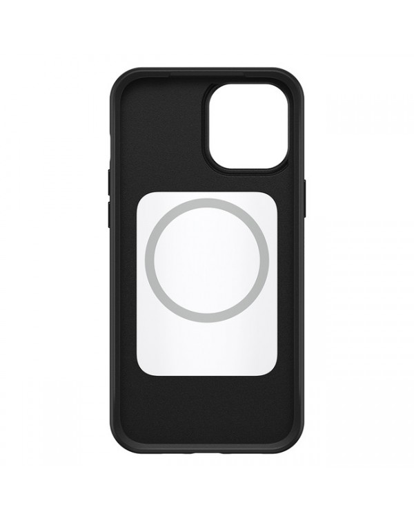Otterbox - Symmetry+ with MagSafe Protective Case Black for iPhone 12/12 Pro