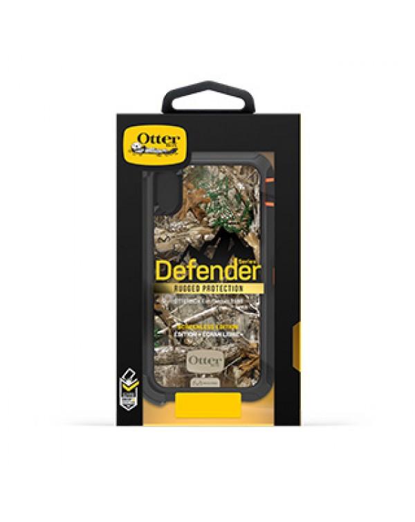 iPhone XR Otterbox Orange/Black Realtree (Edge) Camo Defender Series case