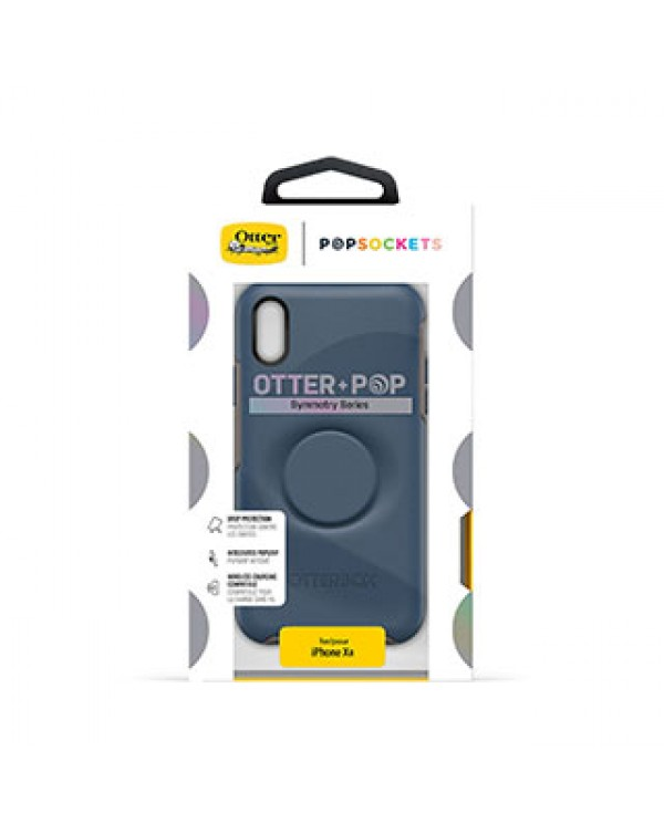 iPhone XR Otterbox + POP Blue/Blue (Go to Blue) Symmetry Series Case
