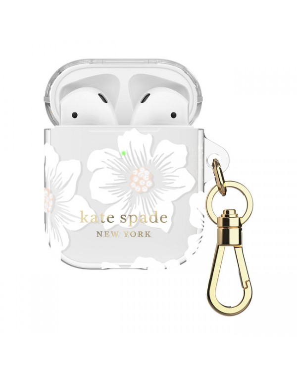 Kate Spade - Flexible Case Hollyhock Floral Clear for AirPods
