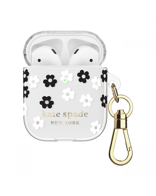Kate Spade - Flexible Case Scattered Flowers Clear for AirPods