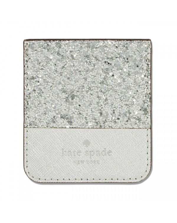 Kate Spade - Sticker Pocket Glitter Silver