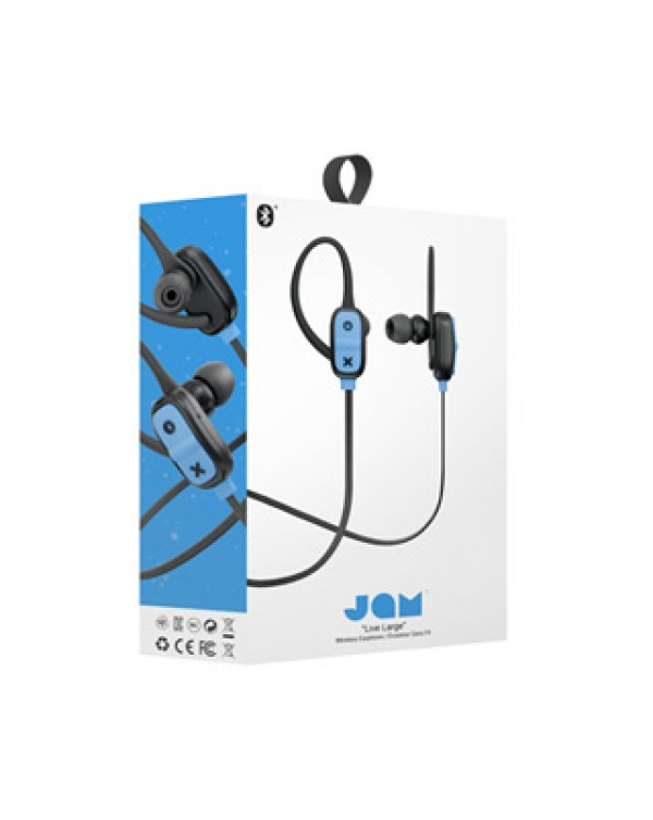 JAM Black Live Large Bluetooth Earbuds