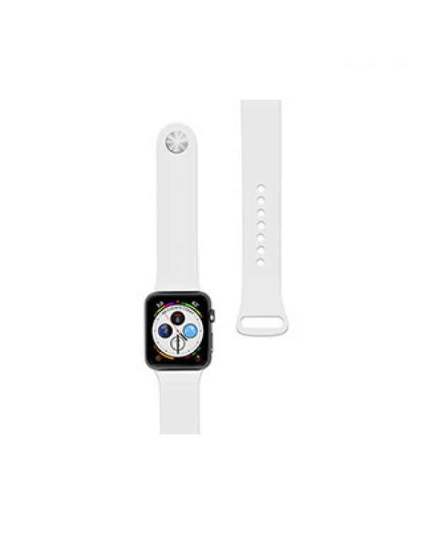 Apple Watch 44/42mm Naztech White Silicone Watch Band