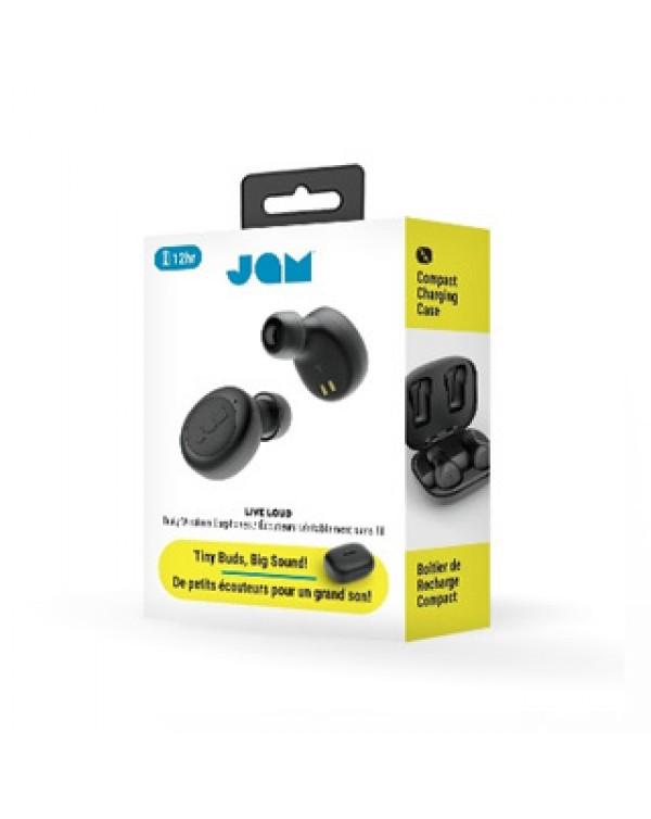 JAM Black Live Loud Bluetooth True Wireless Earbuds