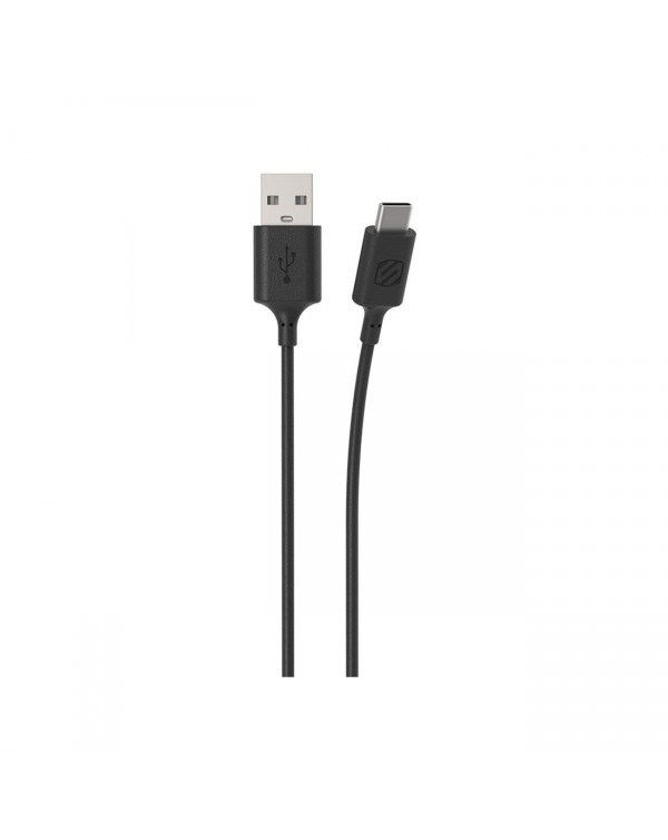 Scosche StrikeLINE Cable USB-A to USB-C- Black - 3ft