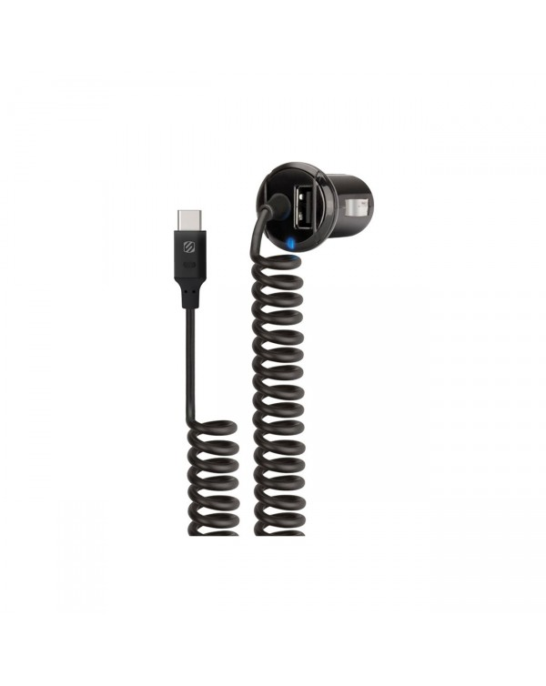 Scosche Type-C Car Charger with USB Port