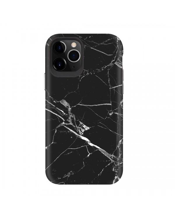 Blu Element - Mist 2X Fashion Fashion Case Black Marble Matte for iPhone 11 Pro