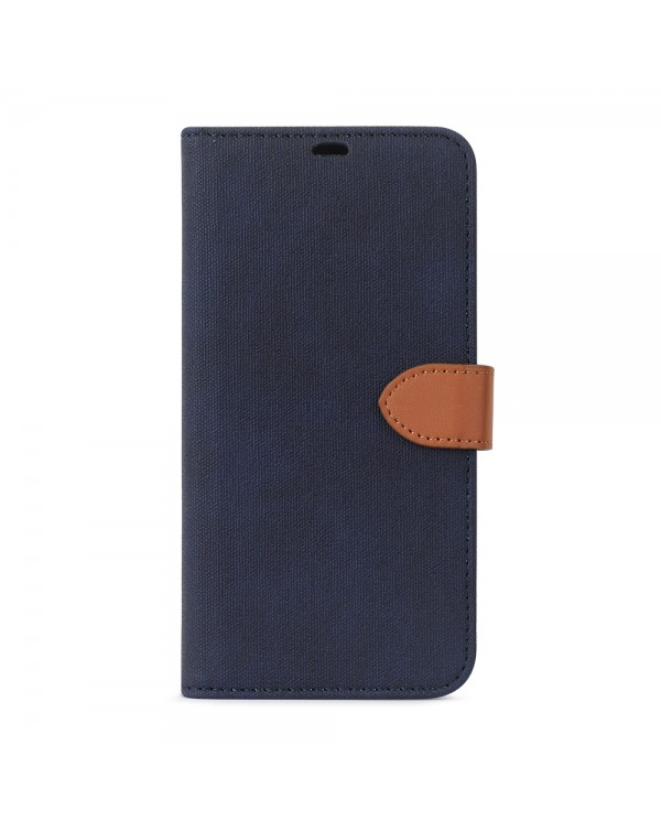Blu Element - 2 in 1 Folio Case Navy/Tan for iPhone 11
