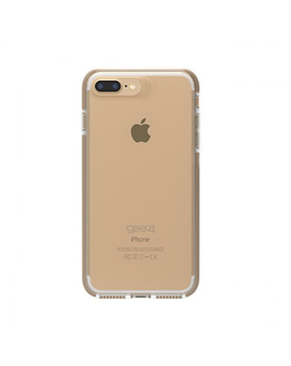 iPhone 8 Plus/7 Plus/6S Plus/6 Plus Gear4 D3O Clear/Gold Piccadilly case