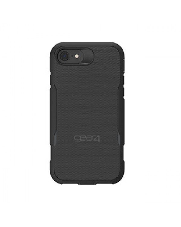 iPhone 8/7/6S/6 Gear4 D3O Black Platoon Case w/ Holster