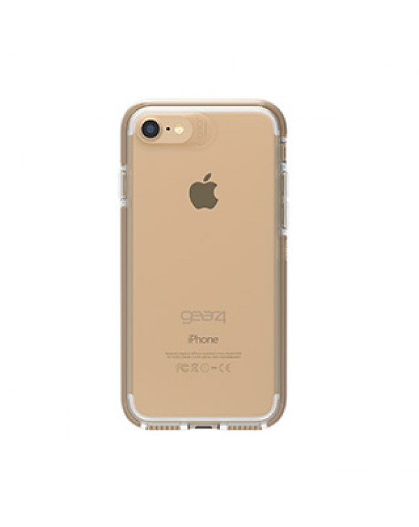 iPhone 8/7 Gear4 D3O Clear/Gold Piccadilly case