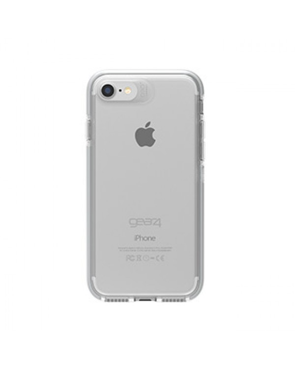 iPhone 8/7 Gear4 D3O Clear/Silver Piccadilly case