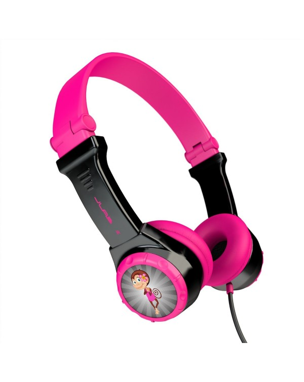 JLab Audio - JBuddies Folding Headphones Black/Pink (English Packaging Only)