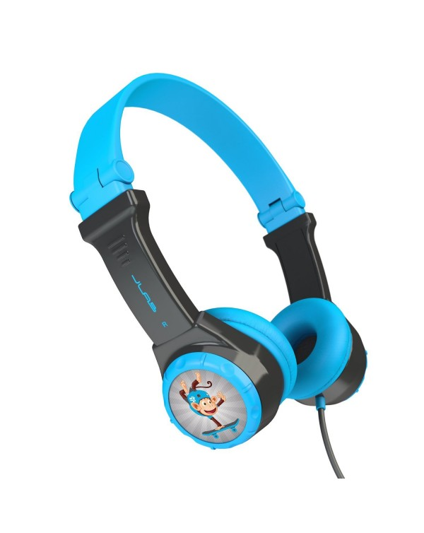 JLab Audio - JBuddies Folding Headphones Blue/Gray (English Packaging Only)