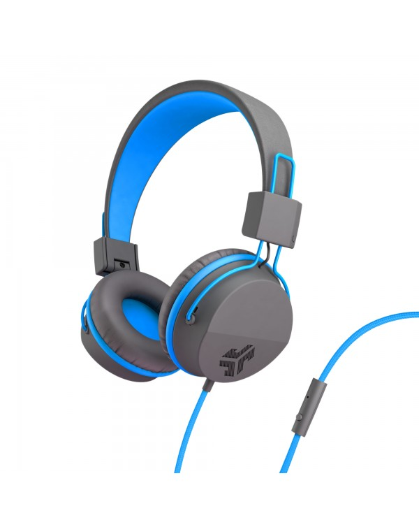JLab Audio - JBuddies Studio Over Ear Folding Kids Headphones Blue/Gray (English Packaging Only)