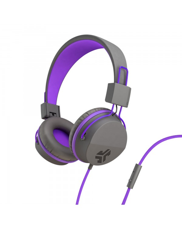 JLab Audio - JBuddies Studio Over Ear Folding Kids Headphones Purple/Gray (English Packaging Only)