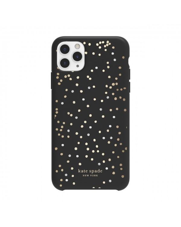 Kate Spade - Protective Hardshell Case Black Disco Dots for iPhone 11 Pro Max