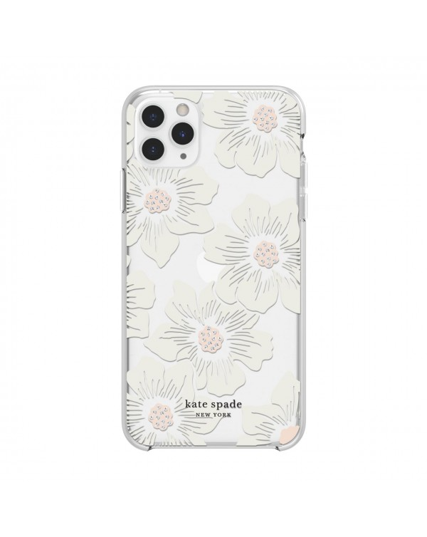 Kate Spade - Protective Hardshell Case Hollyhock Floral Clear for iPhone 11 Pro Max