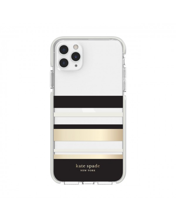 Kate Spade - Defensive Hardshell Case Park Stripe Clear for iPhone 11 Pro Max