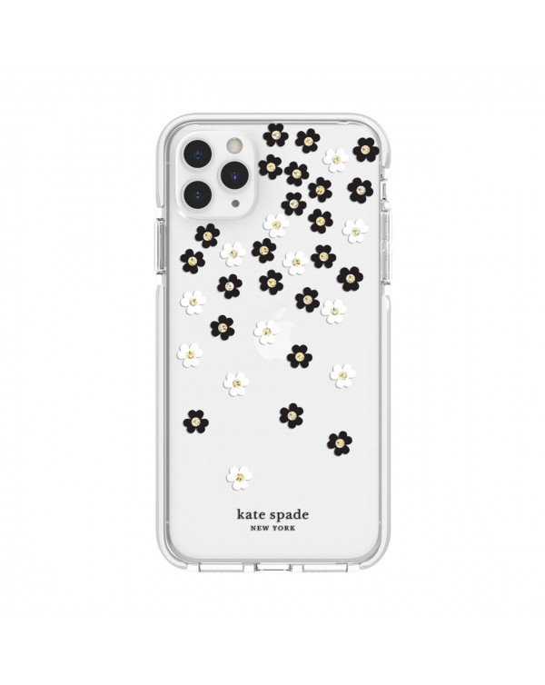 Kate Spade - Defensive Hardshell Case Scattered Flowers Clear for iPhone 11 Pro Max