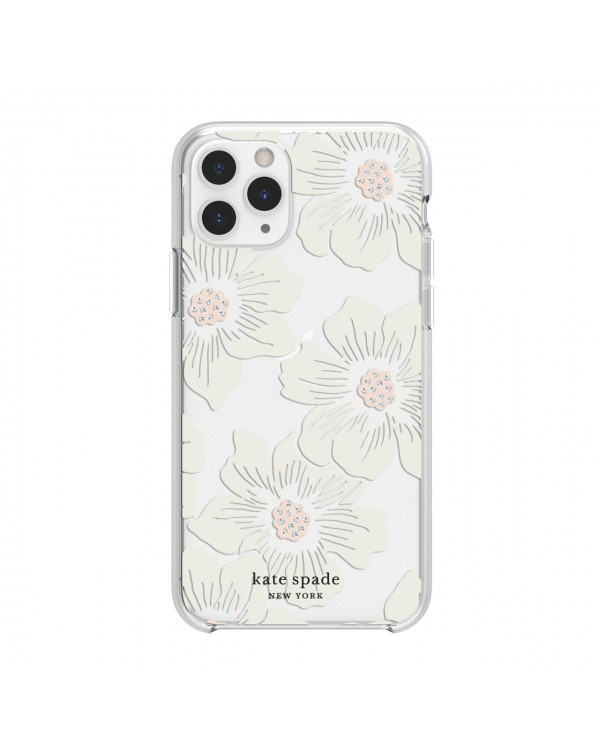 Kate Spade - Protective Hardshell Case Hollyhock Floral Clear for iPhone 11 Pro