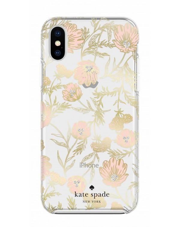 Kate Spade - Protective Hardshell Case Blossom Gold Foil for iPhone XS Max