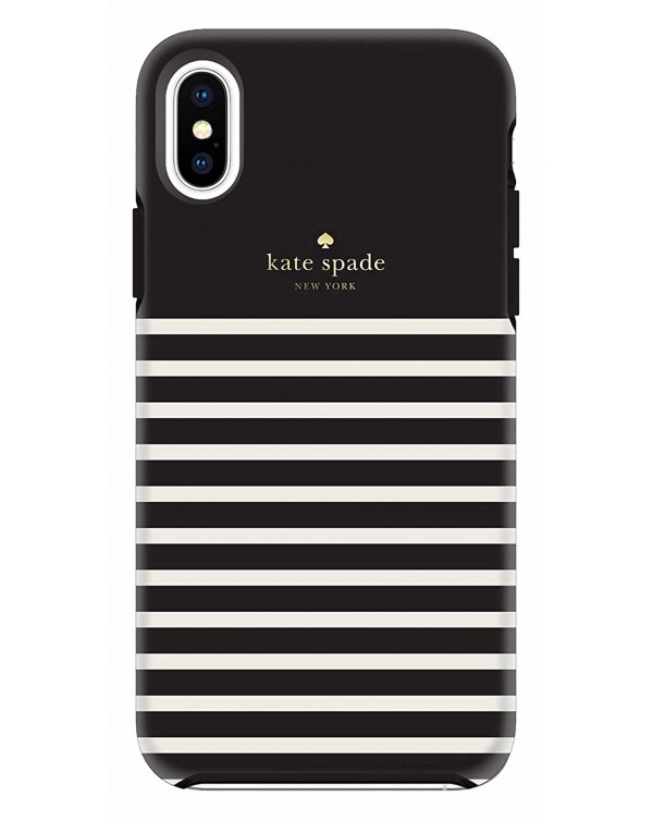Kate Spade - Protective Hardshell Case Feeder Stripe for iPhone XS Max
