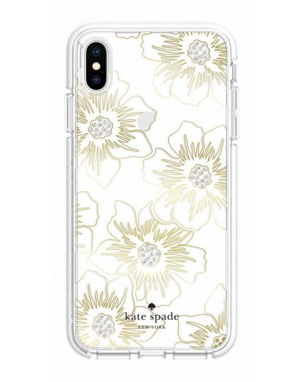 Kate Spade - Defensive Hardshell Case Reverse Hollyhock Floral for iPhone XS Max