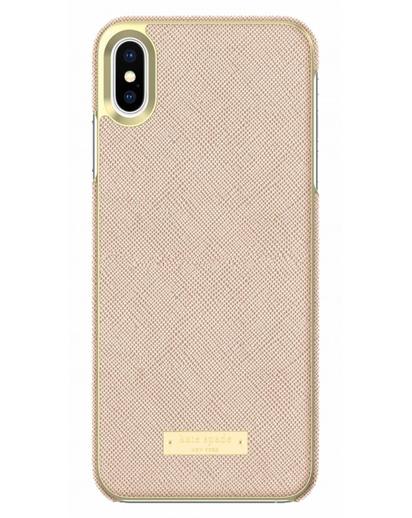 Kate Spade - Wrap Case Saffiano Rose Gold Plate for iPhoneXS Max