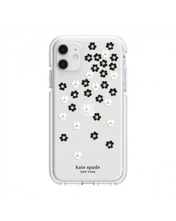 Kate Spade - Defensive Hardshell Case Scattered Flowers Clear for iPhone 11