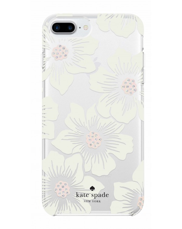 Kate Spade - Protective Hardshell Case Hollyhock Floral for iPhone 8+/7+/6S+/6+