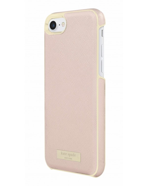 Kate Spade - Wrap Case Saffiano Rose Gold Plate for iPhone 8/7