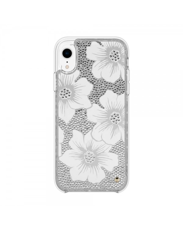 Kate Spade - Full Clear Crystal Case Hollyhock for iPhone XR