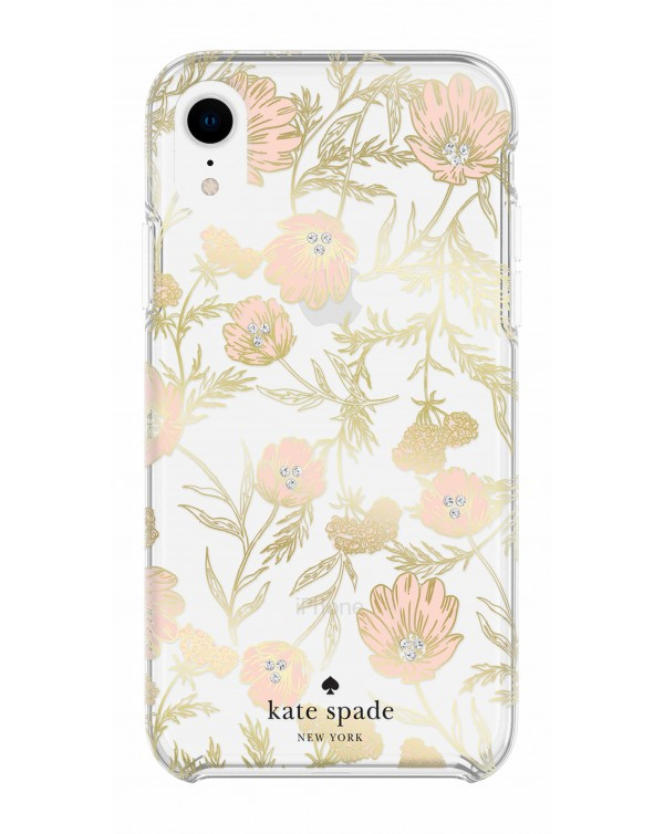 Kate Spade - Protective Hardshell Case Blossom Gold Foil for iPhone XR