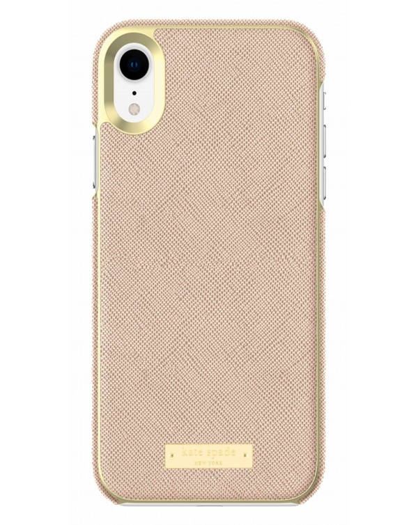 Kate Spade - Wrap Case Saffiano Rose Gold Plate for iPhone XR